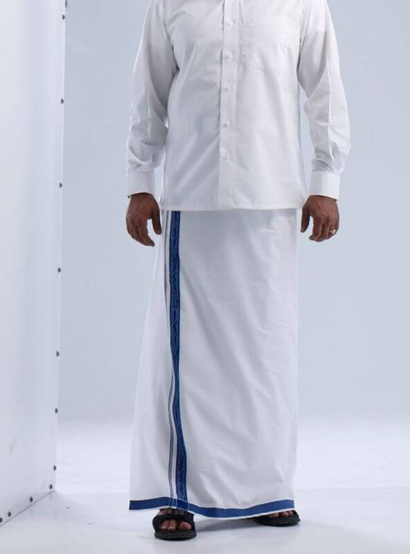 Dhoti with Black Border and tshirt Men Dress