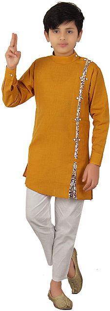 Ethnic Wear Kurta with Trousers style Pyjama Teenagers Boys Dress