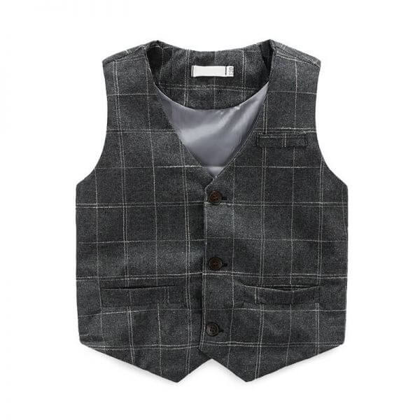 Grey Tartan Vest Suit with Matching Trouser baby boy dress