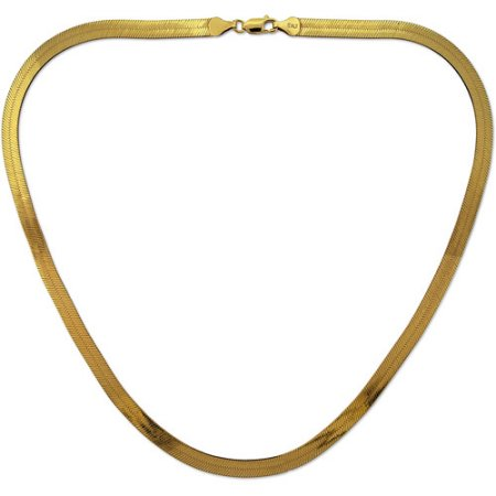 Herringbone gold chain