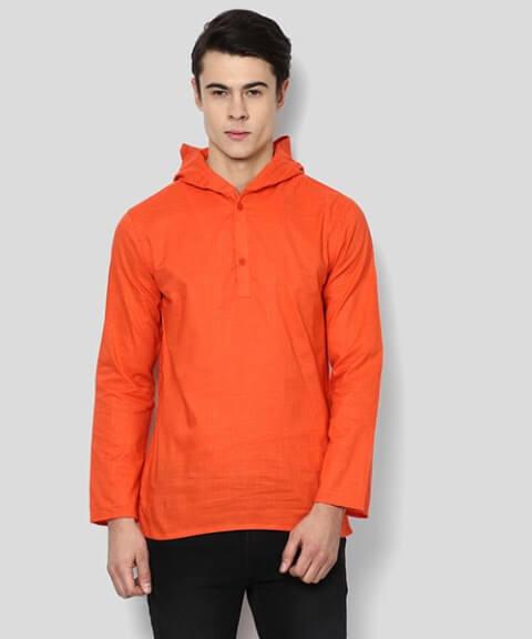 Hooded Kurta Shirt Teenagers Boys Dress
