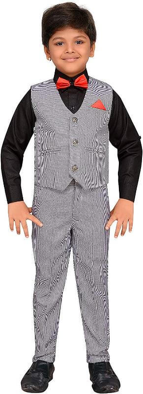Kids Shirt, waistcoat and pant Set Boy Children Dress