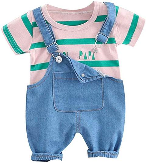 Kid's T-Shirt with Dungaree baby boy dress