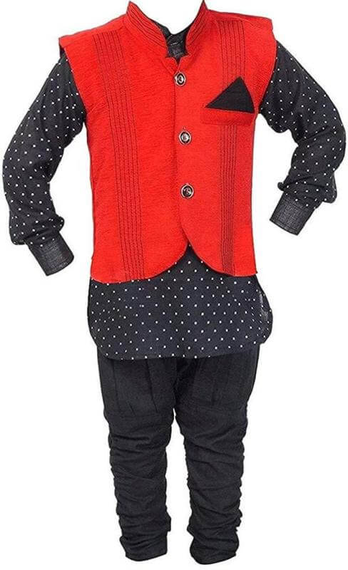 Kurta With Balloon Pant And Jacket Boy Children Dress