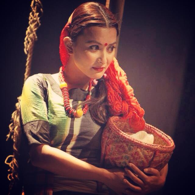 Namrata Shrestha Nepali actress traditional dress
