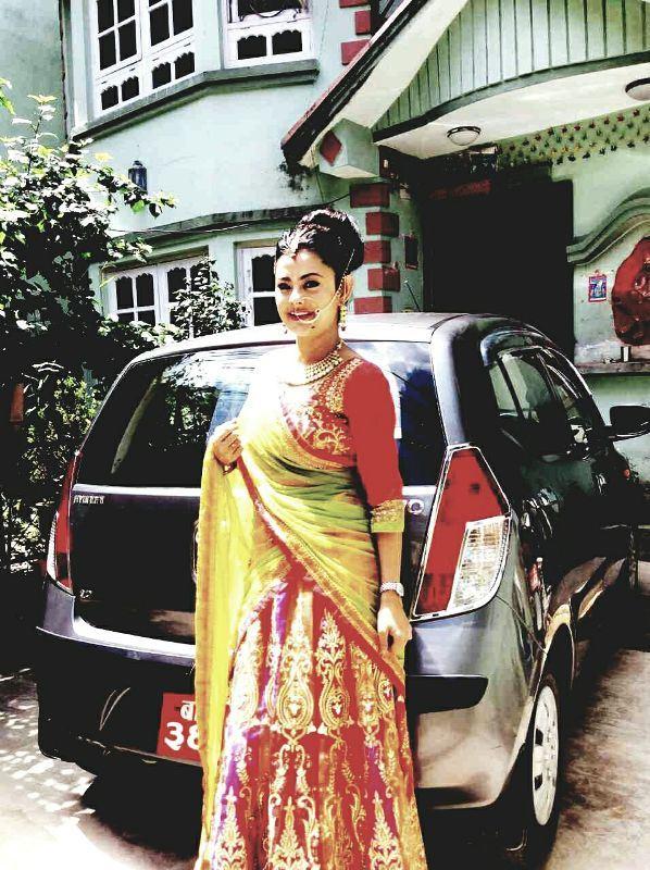 Nepalese actor Rajesh hamal and Nepali Actress Sushma Karki Traditional Dress Image