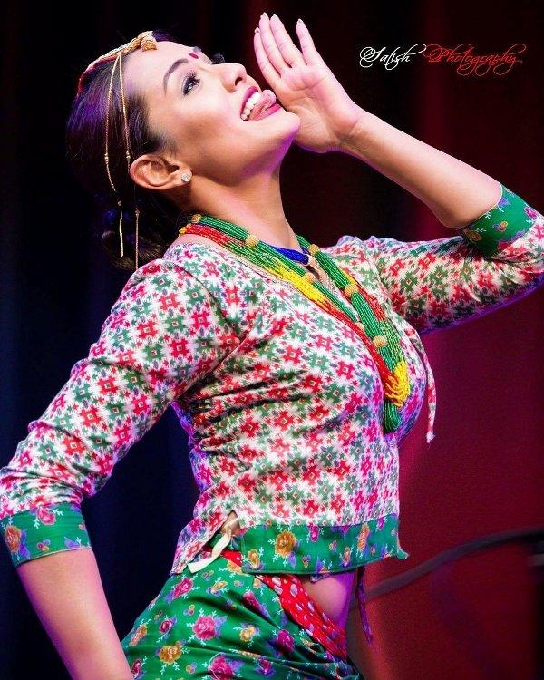 Priyanka Karki Nepali actresses in Nepalese Traditional dress