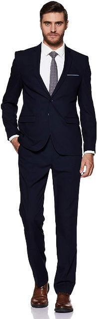 Rayon Notch Lapel Suit man dress