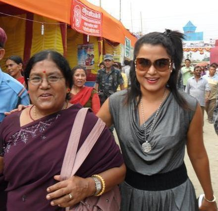 Rekha Thapa With Her Mother
