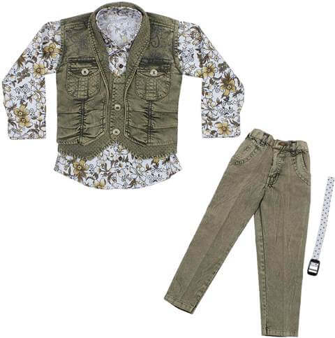 Shirt Jeans and Jacket Clothing Set Boy Children Dress