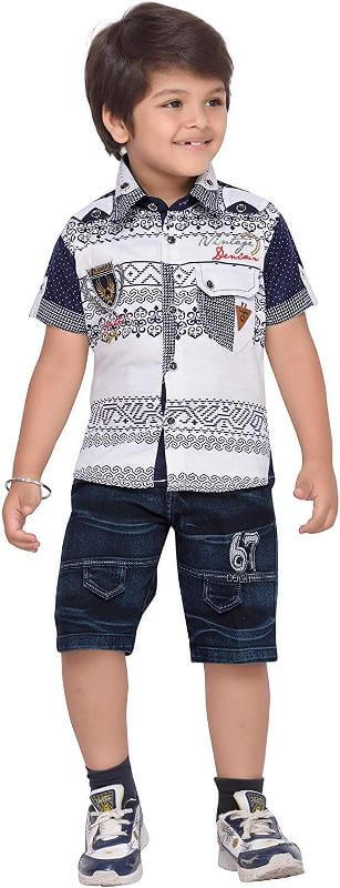 Shirt and Shorts Clothing Set Boy Children Dress