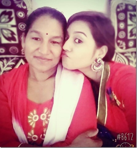 Surbina Karki & her Mother