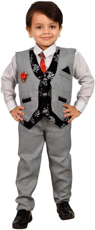Waistcoat with Shirt and Pyjama Kids Children Dress