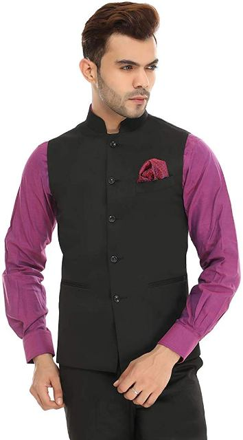blended waist coat man dress