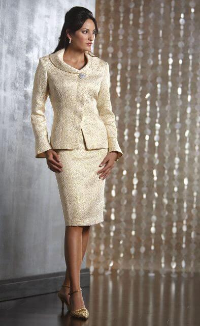 dress suit matured woman