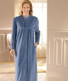 dressing gown matured woman