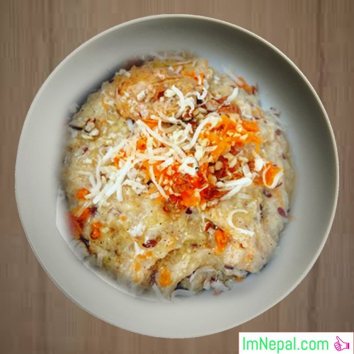 Carrot porridge sweet-recipe dish