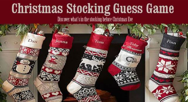Christmas Stocking Guessing Game