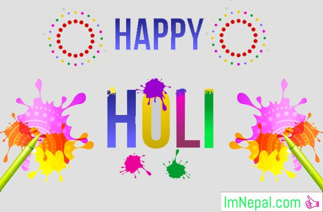 50 Happy Holi 2019 (2075) Greeting HD eCards, Wallpapers with Poems/Kavita : Nepali Holi Cards