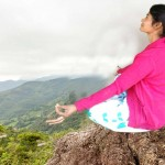 Hike Yoga Meditation Nourish a girl himalayas hills area Nepal