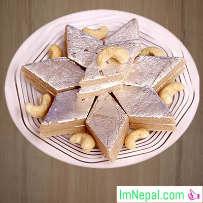 Kaju Katli sweet recipe dish foods