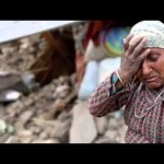 Nepali mother crying in song heart touching
