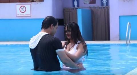 Nepali swimming pool boyfriend girlfriend image