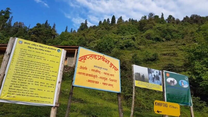 On the way to Khaptad National Park