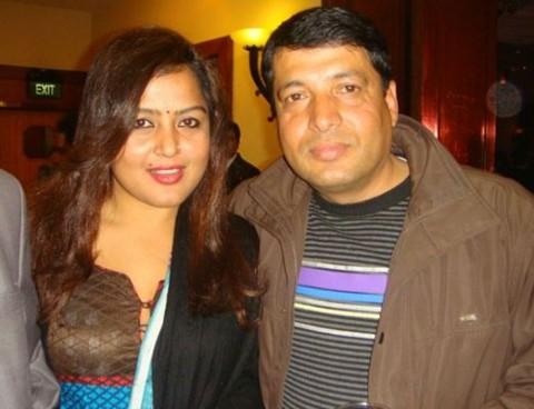 Rekha Thapa & her ex-husband Chhabi Raj Ojha