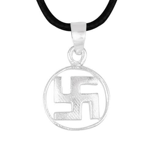 Silver Swastik Pendant