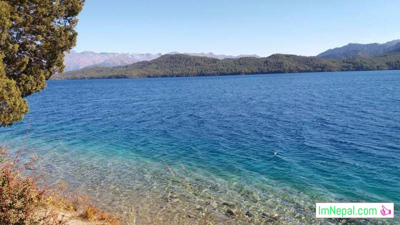 Beautiful views of Rara Tal lake Mugu Nepal