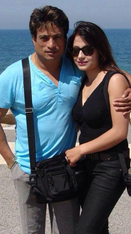 Nepali Actor Shree Krishna with wife