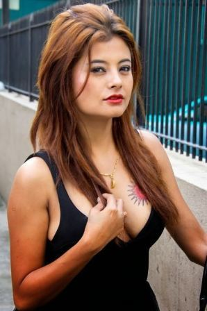 Nepali actress Sushma Karki Hot Tattoo images