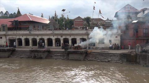 The Pashupatinath temple and Arya Ghat, Kathmandu, Nepal