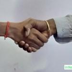 Handshaking for professional communication image