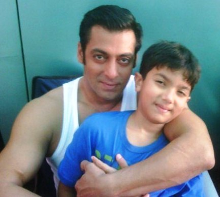 Nirvaan Khan with Salman Khan