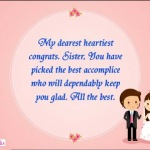 Congratulations best wishes for wedding marriage for sister