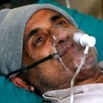 Dr. Govinda KC in hospital