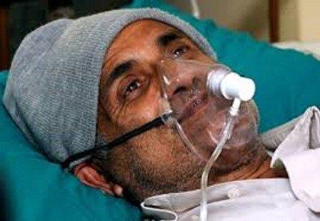Dr. Govinda KC in hospital