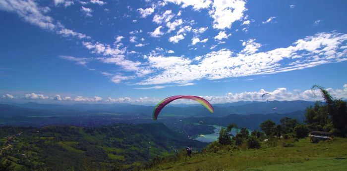 Paragliding in Sarangkot, Pokhara, Nepal