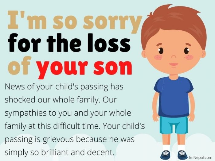 Sympathy Messages on The Loss of Son in English