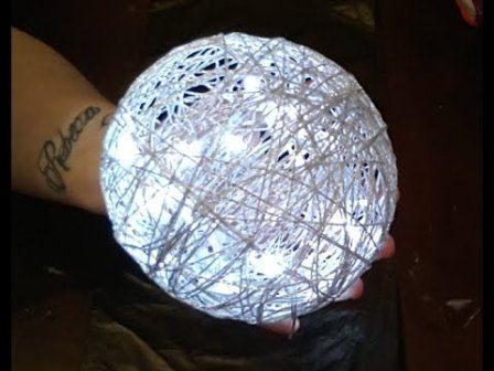 Balloon twine lights