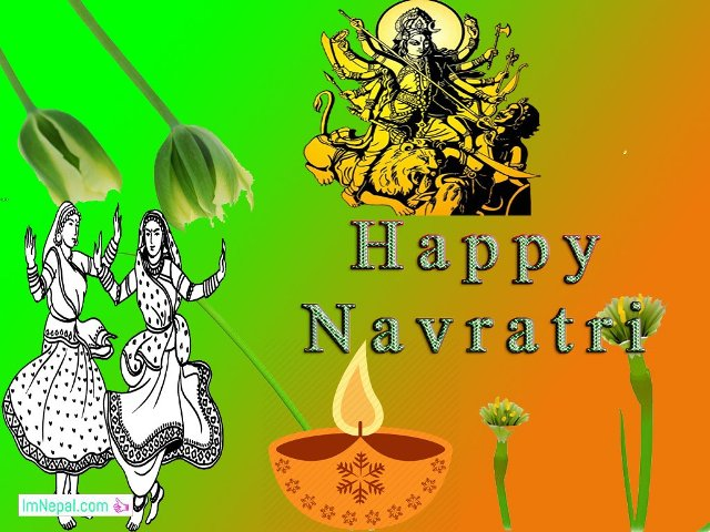 Happy Shubha Navratri Navaratri Festival Hindu Wallpapers Greeting Cards Quote Images pictures Wishes messages sms text msg