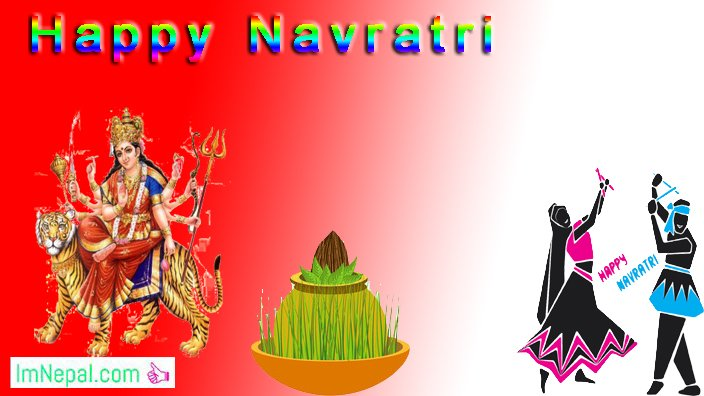 Happy Shubha Navratri Navaratri Festival Hindu Wallpapers Greeting Cards Quotes Images pictures Wishe messages sms text