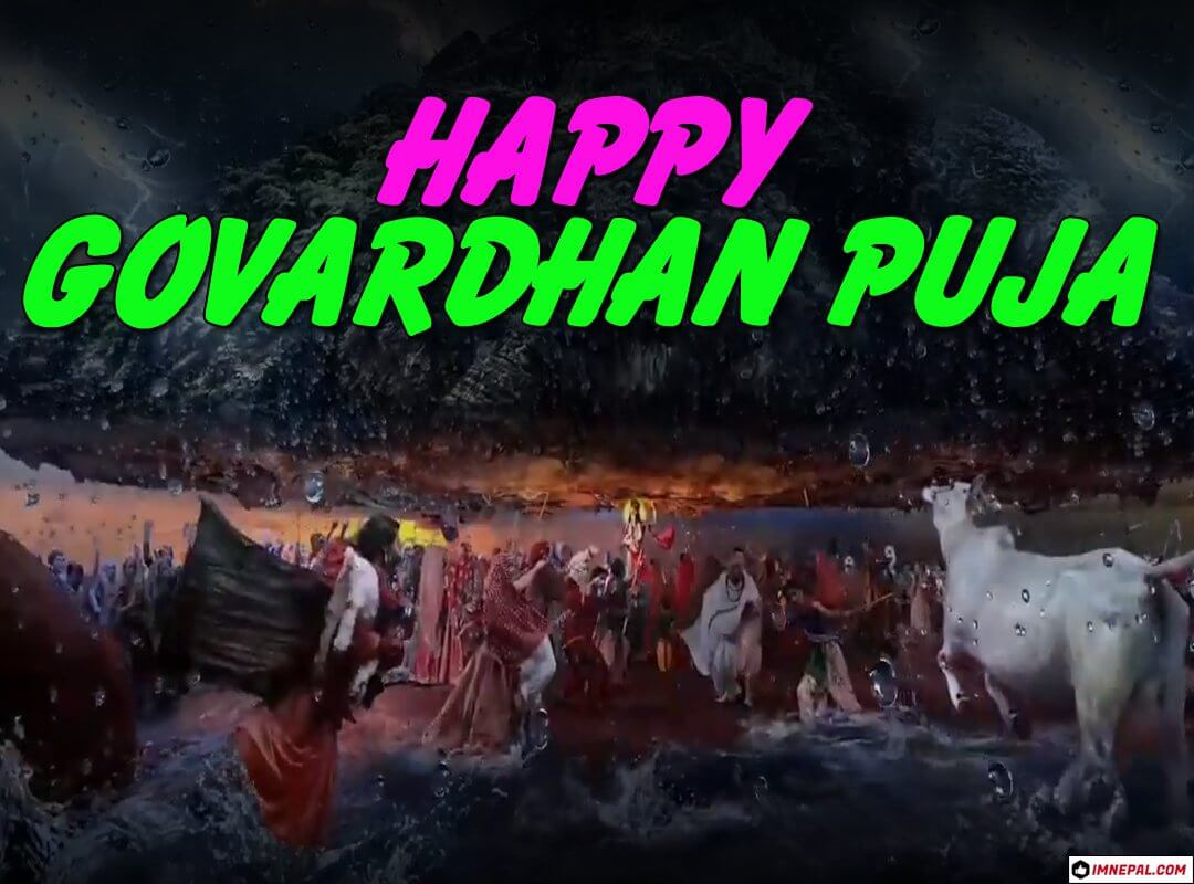 Happy Govardhan Puja Greeting Cards Wishes Images Wallpapers