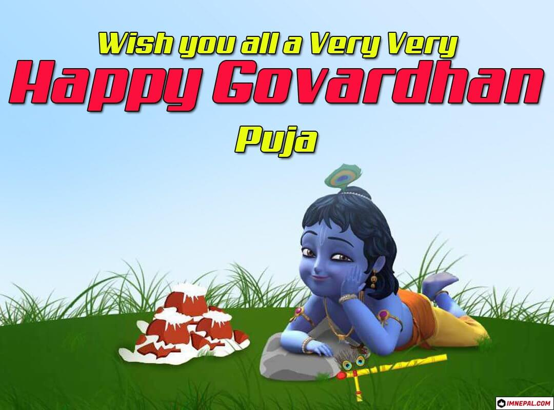 100 Happy Diwali Govardhan Puja Wishes, Messages, Status & Quotes With Images