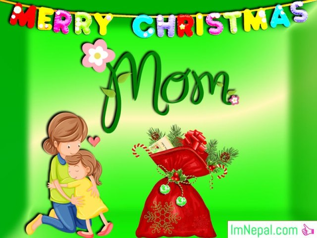 Happy Merry Christmas Wishes Greeting Cards HD Wallpapers Messages Pictures For Mother Mom From Son Daughter Images Photos