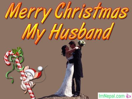 Merry Christmas Greeting  Image for Husband