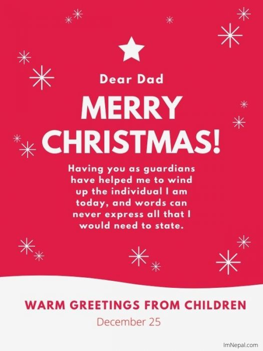 Merry Christmas wishes to father dad wishes