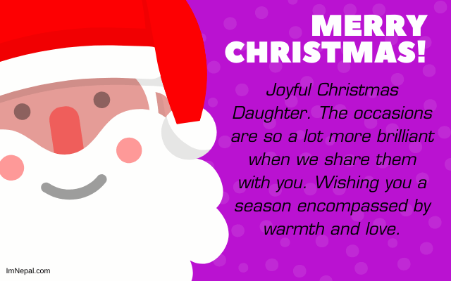 Merry Christmas Wishes For Daughter in English Cards